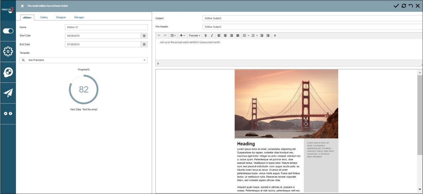 Image for Meet eMaker – the redesigned email editor
