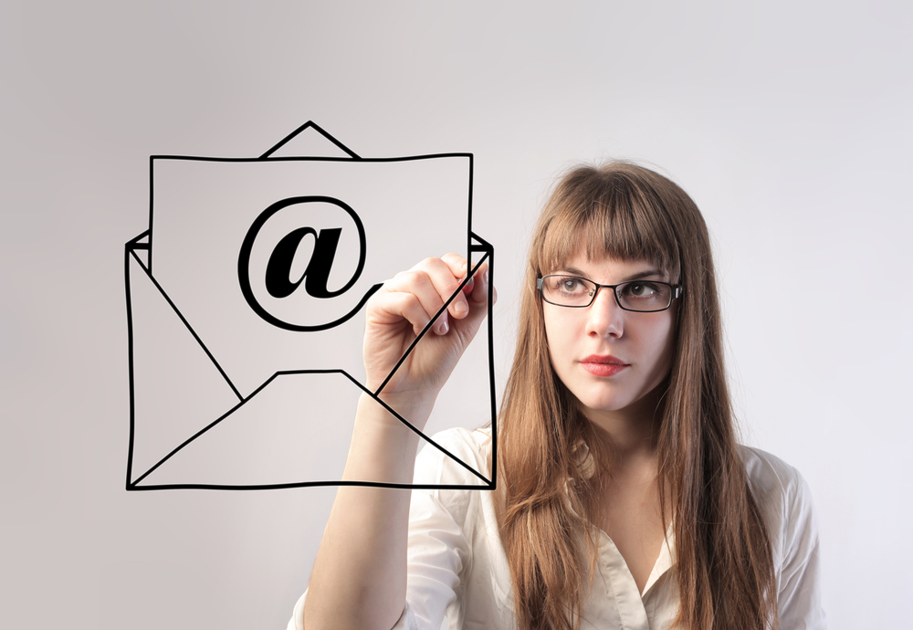 woman-drawing-an-email